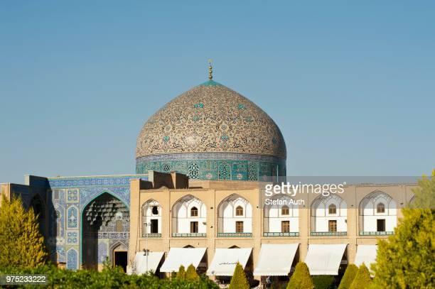 Colorful tiled dome, Sheikh Lotfollah Mosque, Maidan Square, also Naqsh-e Jahan Square, Isfahan, Iran