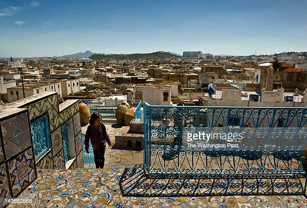 Colorful tiles remind tourists of Tunisia's history at a Sultan's Palace in the Medina in Tunis, Tunisia, on Wednesday, April 18, 2012. The panaromic...