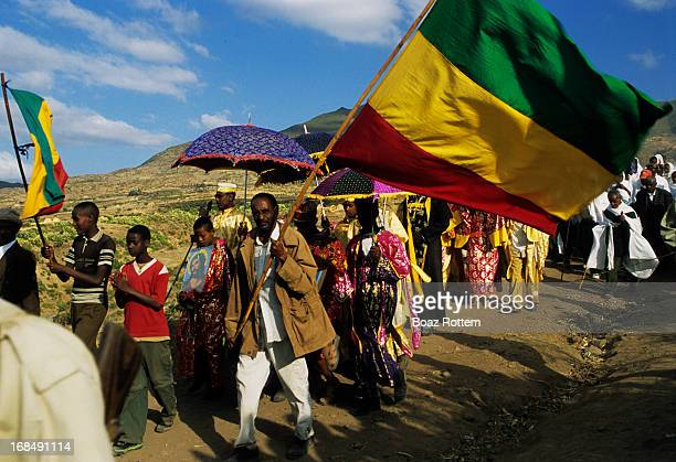 Colorful Timkat procession in Eastern Ethiopia.