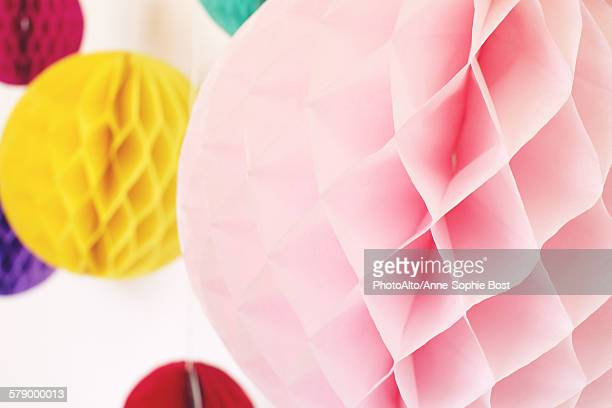 Colorful tissue paper pompoms