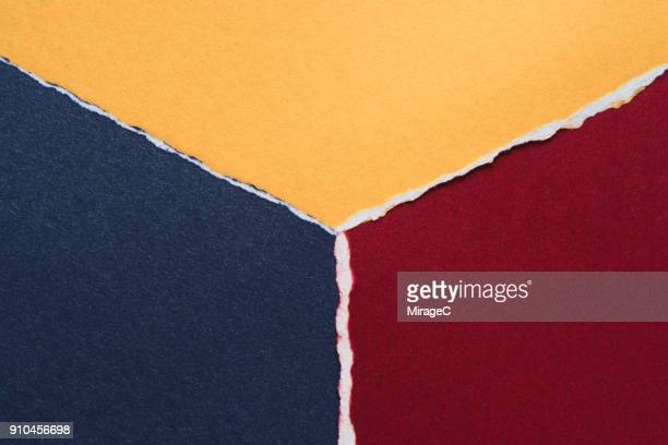 Colorful Torn Paper Abstract Pattern