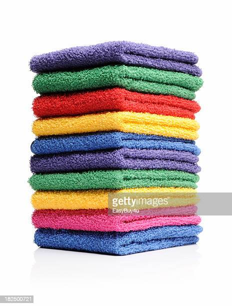 colorful towels - towel stock pictures, royalty-free photos & images