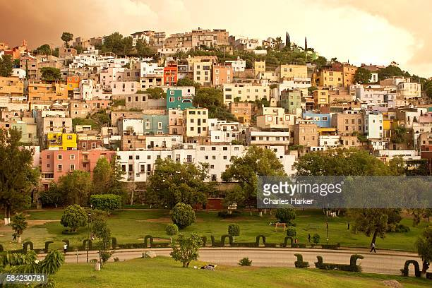 Colorful Town of Guanajuato before a Storm