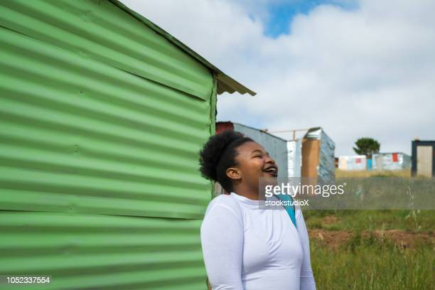 colorful townships of africa - south african culture stock photos and pictures