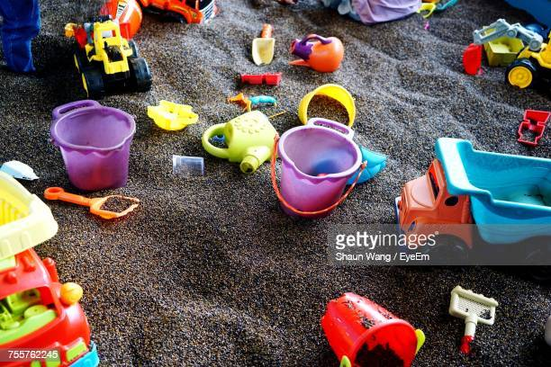 Colorful Toys At Sandy Beach