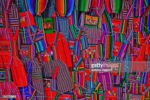 colorful traditional clothing of guatemala - guatemala stock-fotos und bilder