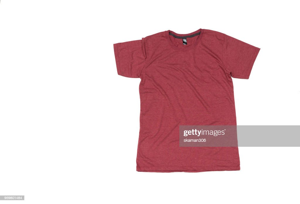 Colorful T-shirt compose with white background : Stock-Foto