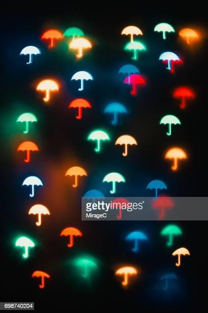 Colorful Umbrella Bokeh