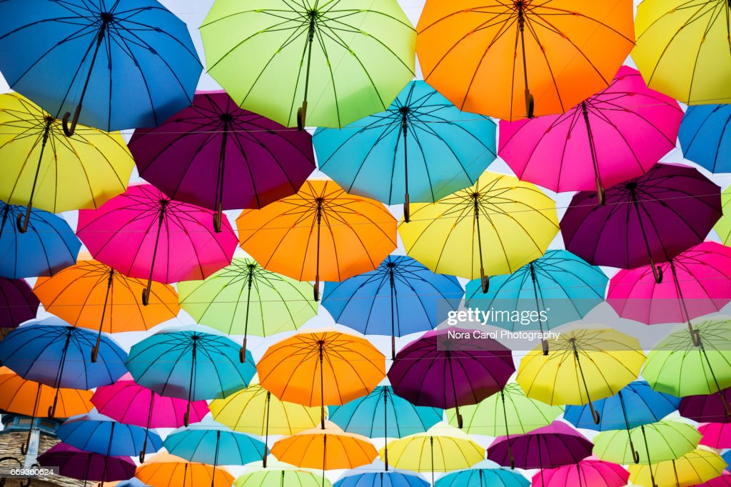 Colorful umbrellas : Stock Photo