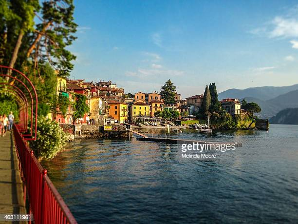 colorful varenna italy - lake como stock pictures, royalty-free photos & images