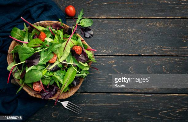 colorful vegetable salad - salad stock pictures, royalty-free photos & images