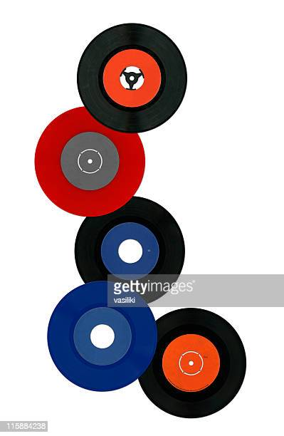 colorful vinyl records - individual event stock pictures, royalty-free photos & images
