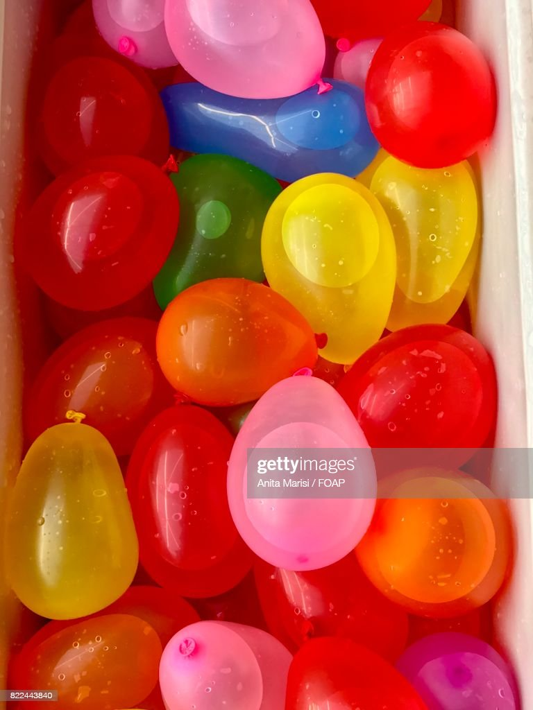 Colorful water balloon collection : Stock Photo