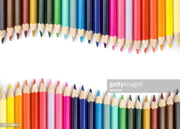colorful wave - color pencil stock pictures, royalty-free photos & images