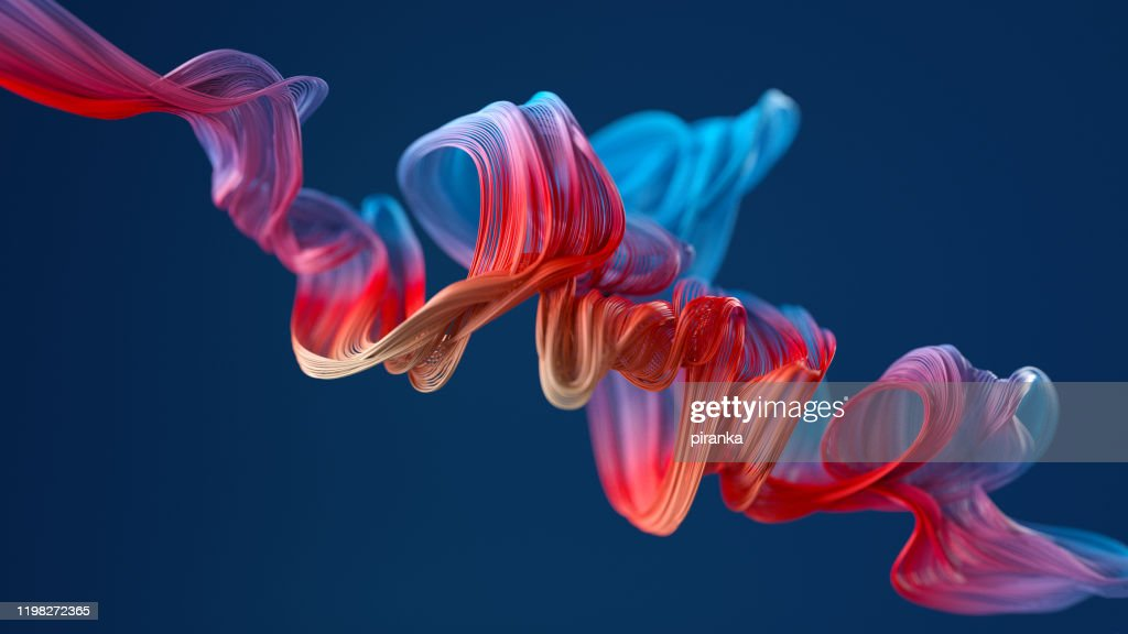colorful wavy object : Stock Photo