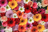 Colorful wedding flower arrangement