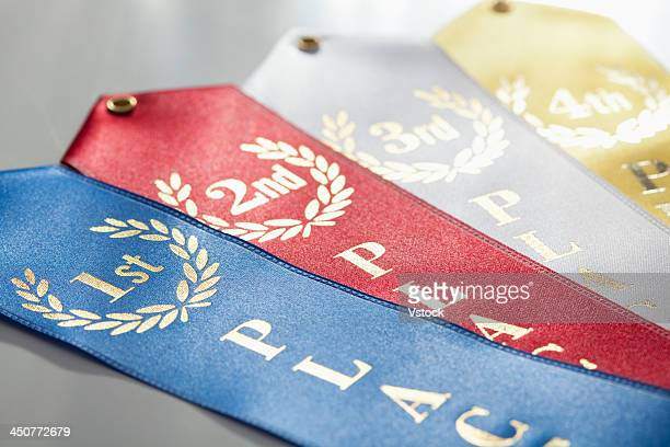 Colorful winning ribbons
