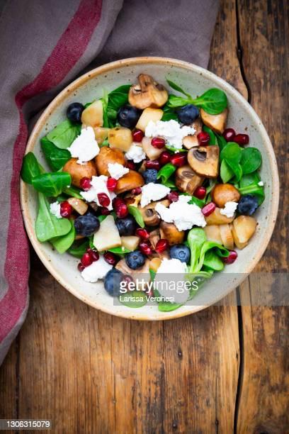 colorful winter's salad - larissa veronesi stock-fotos und bilder