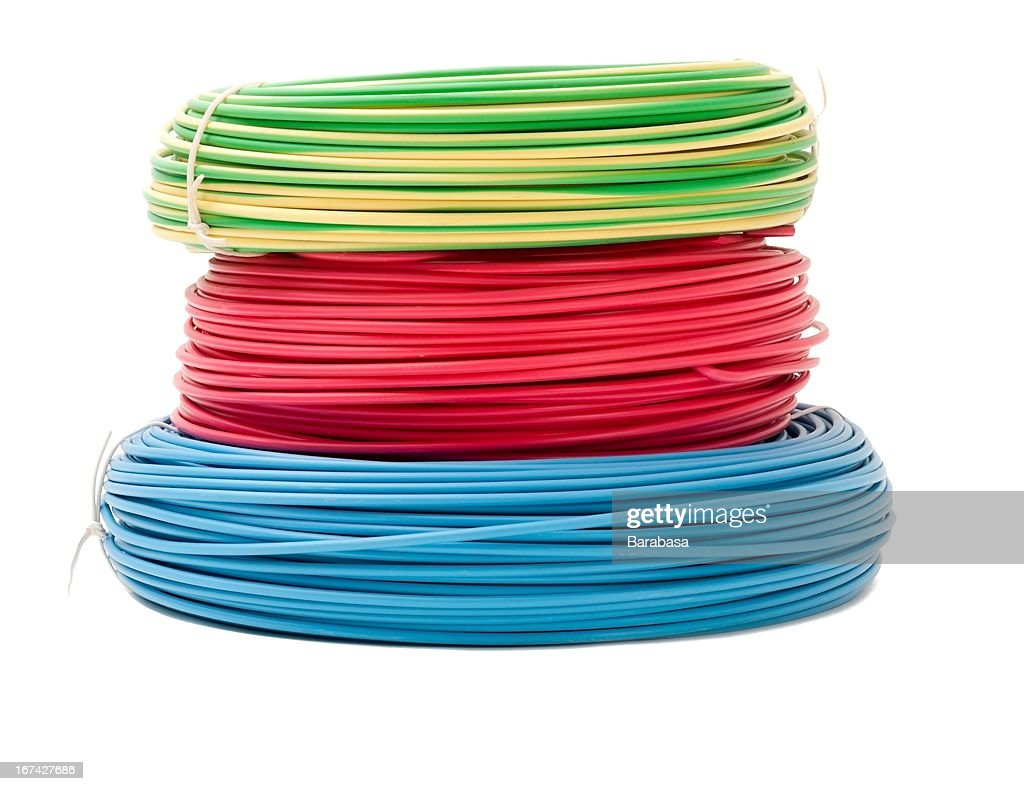Colorful wire bundles : Stock Photo