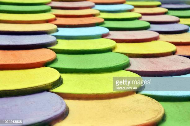 Colorful Wooden Roof Tiles