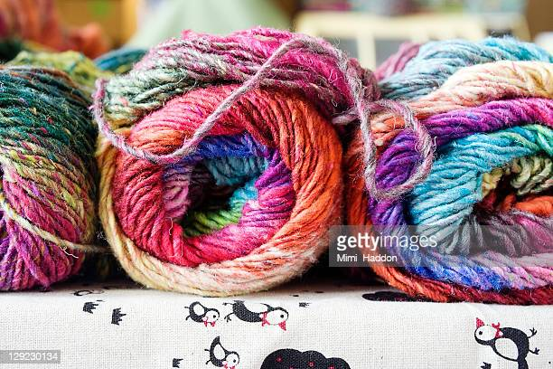 Colorful Yarn Displayed in Craft Supply Store