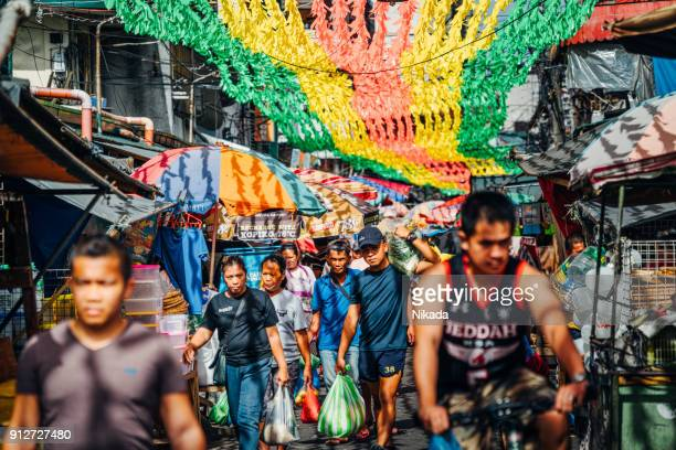 colorfull Baclaran Street Market in Manila, Philippines
