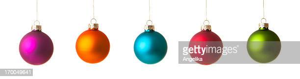 Colorfull Christmas ball, isolated on white