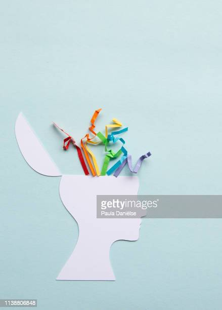 colorfull stress - cerebrum stock pictures, royalty-free photos & images