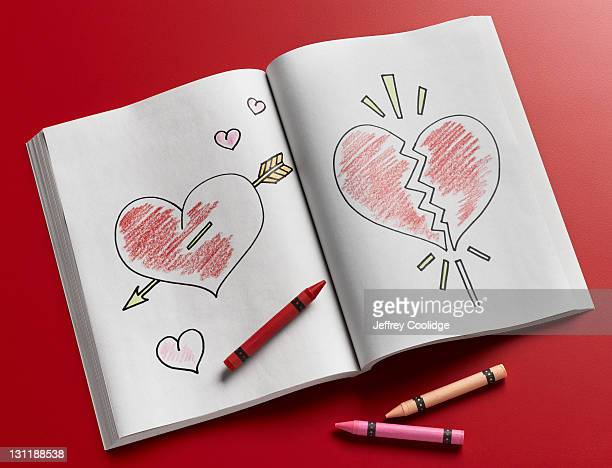 Coloring Book, Broken Heart, Love