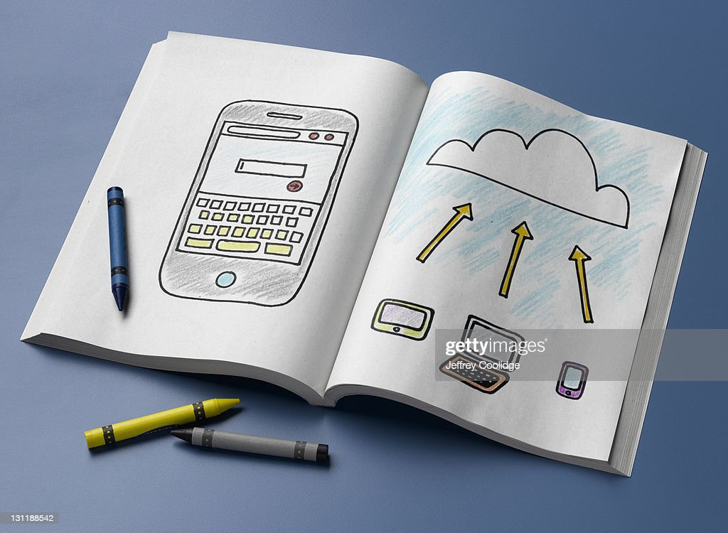 Coloring Book, Technology : Stock Photo