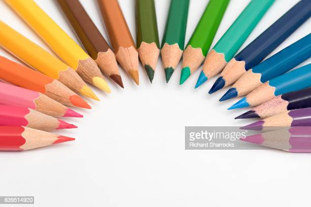 coloring pencil arc - colouring stock pictures, royalty-free photos & images
