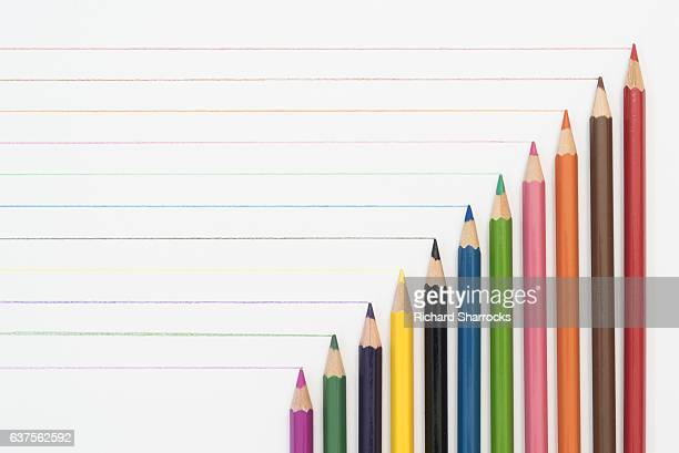 coloring pencil diagonal - color pencil stock pictures, royalty-free photos & images