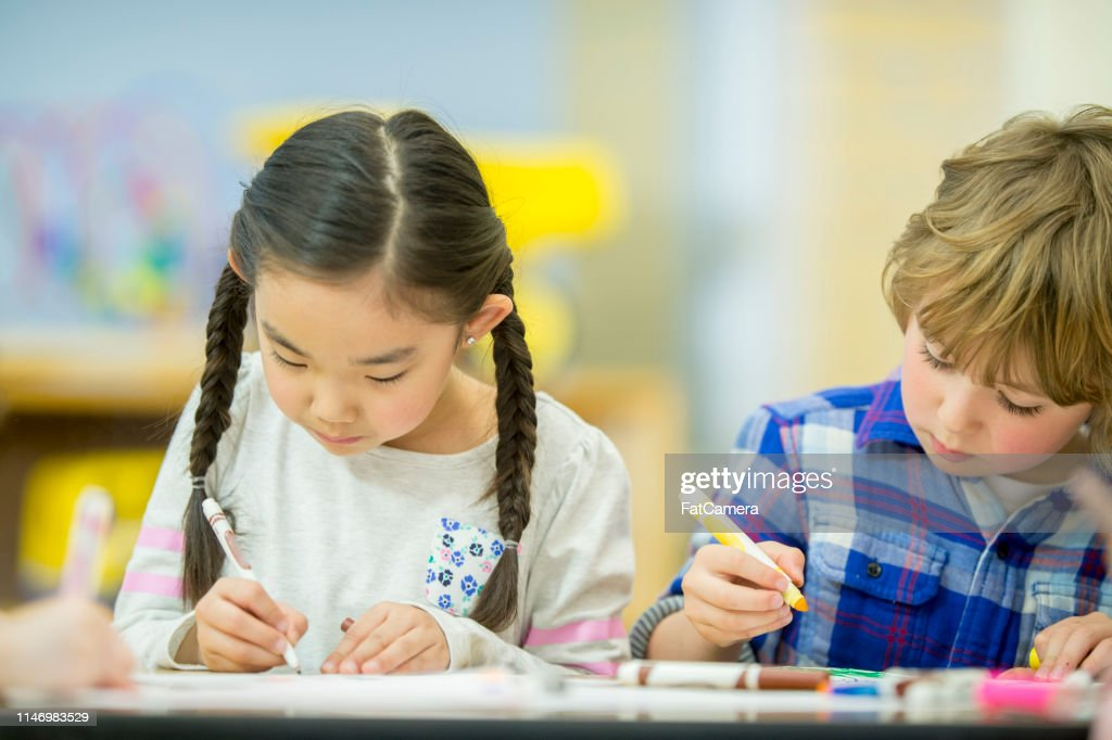 Coloring With Markers High-Res Stock Photo - Getty Images