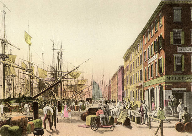 'South Street From Maiden Lane, 1828' Wall Art