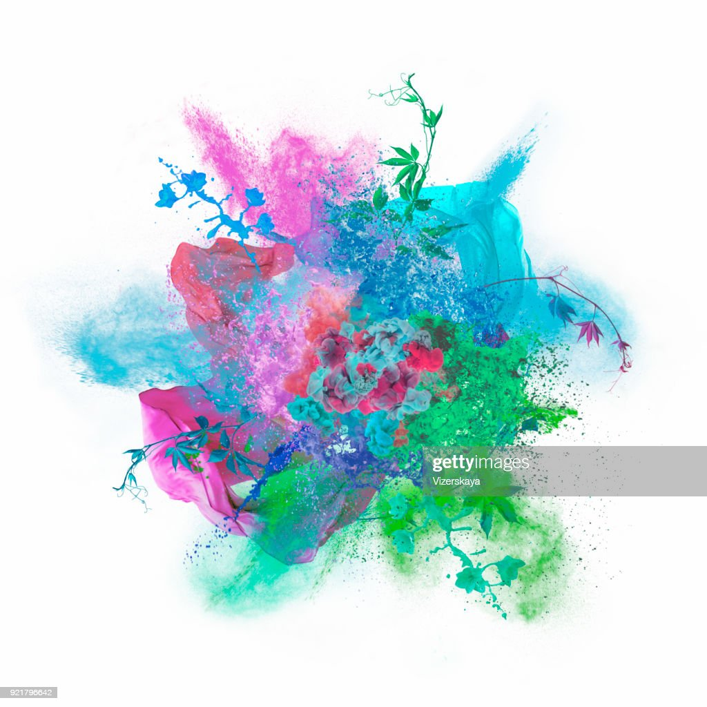 colors exploding : Stock Photo