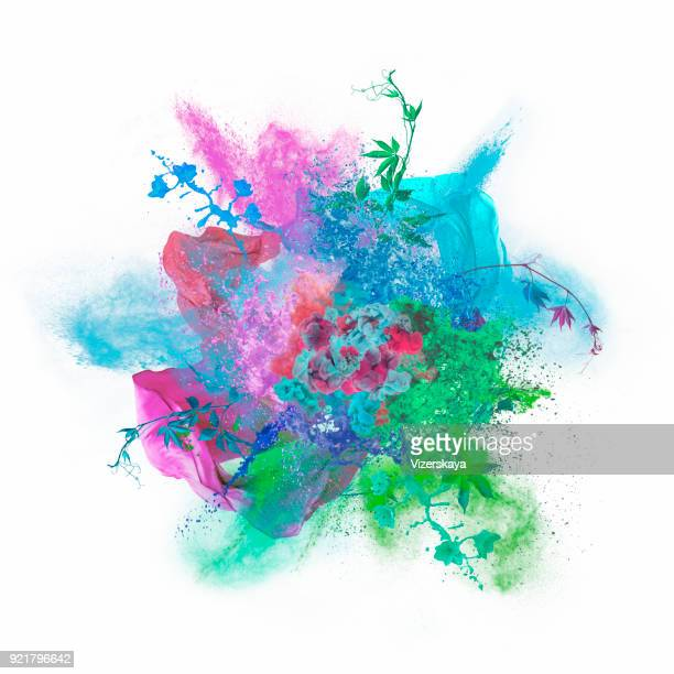 colors exploding - exploding stock pictures, royalty-free photos & images