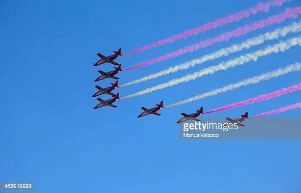 colors in the sky - spanish military stock pictures, royalty-free photos & images