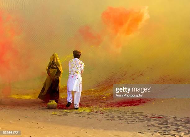 Colors of holi festival