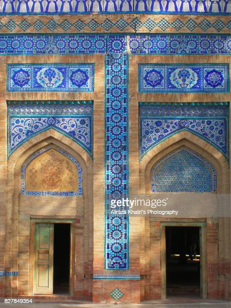 colors of islamic architecture in south asia - multan stock photos and pictures