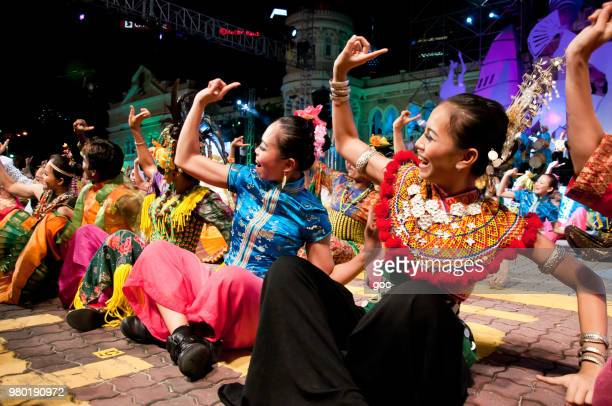 colors of malaysia festival - malaysian culture stock pictures, royalty-free photos & images