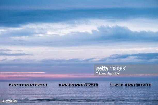 colors of silence - sea of okhotsk stock pictures, royalty-free photos & images