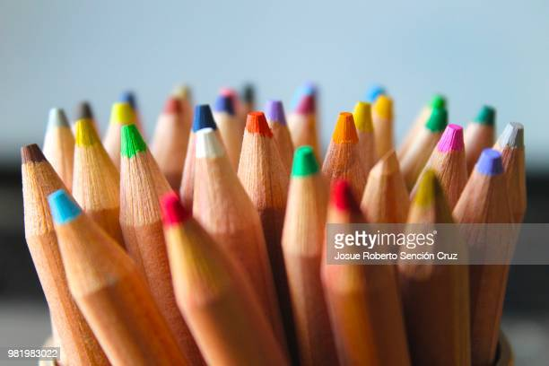 colors - color pencil stock pictures, royalty-free photos & images