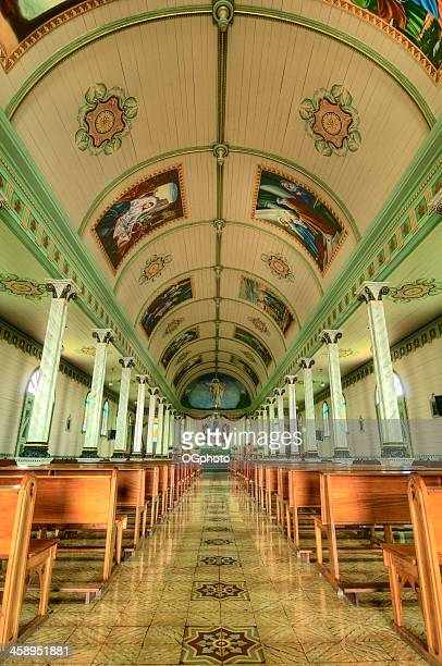 colorul interior of costa rican church. - ogphoto stock pictures, royalty-free photos & images