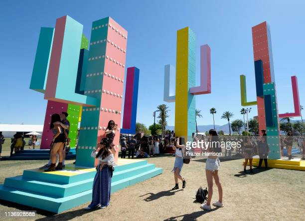 Colossal Cacti is seen during the 2019 Coachella Valley Music And Arts Festival on April 13 2019 in Indio California