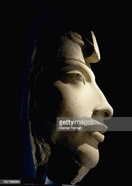 A colossal head of Amenhotep IV in the Double Crown Egypt Ancient Egyptian 18th dynasty early Amenhotep IV Karnak Aton Temple