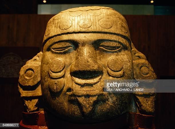Colossal head of the Moon goddess Coyolxauhqui found in Tenochtitlan Aztec civilisation 14th16th century Mexico City Museo Nacional De Antropología