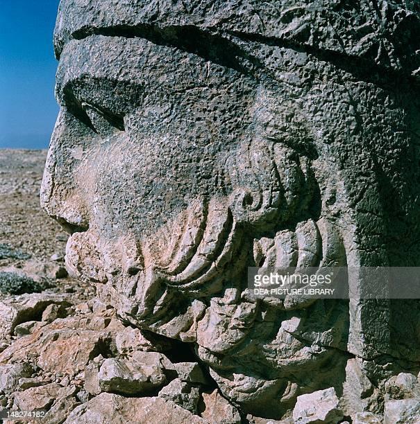 Colossal head of Zeus in King Antiochus I of Commagene's funerary complex East Terrace Archaeological site of Nemrut Dagi near Adiyaman Turkey