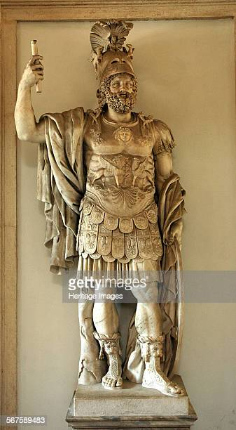 Colossal statue of Mars Culture Roman Period/ Date 2nd C AD Place of Origin Forum of Nerva Rome Credit Line Werner Forman Archive NJ Saunders/...