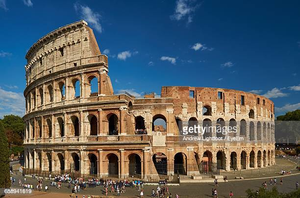 Colosseum Against Blue Sky