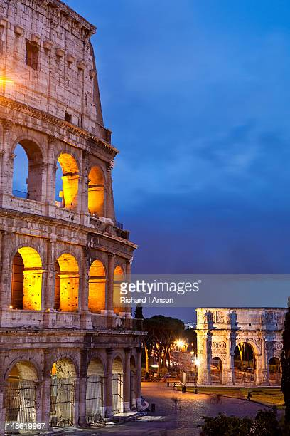 Colosseum and Arch of Constantine.